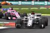 Marcus Ericsson, Alfa Romeo Sauber C37 leads Sergio Perez, Racing Point Force India VJM11 at Formula One World Championship, Rd19, Mexican Grand Prix, Race, Circuit Hermanos Rodriguez, Mexico City, Mexico, Sunday 28 October 2018.