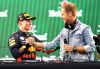 MEXICO CITY, MEXICO - OCTOBER 28: Race winner Max Verstappen of Netherlands and Red Bull Racing celebrates with DJ Armin van Buuren on the podium during the Formula One Grand Prix of Mexico at Autodromo Hermanos Rodriguez on October 28, 2018 in Mexico City, Mexico.  (Photo by Mark Thompson/Getty Images)