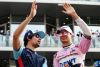 (L to R): Lance Stroll (CDN) Williams and Esteban Ocon (FRA) Racing Point Force India F1 Team on the drivers parade.