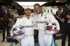 Lewis Hamilton (Mercedes AMG Petronas) mit Will Smith