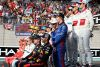 ABU DHABI, UNITED ARAB EMIRATES - NOVEMBER 25:  Daniel Ricciardo of Australia and Red Bull Racing, Brendon Hartley of New Zealand and Scuderia Toro Rosso and Charles Leclerc of Monaco and Sauber F1 are seen at the Class of 2018 F1 Drivers photo before the Abu Dhabi Formula One Grand Prix at Yas Marina Circuit on November 25, 2018 in Abu Dhabi, United Arab Emirates.  (Photo by Charles Coates/Getty Images)