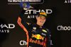 ABU DHABI, UNITED ARAB EMIRATES - NOVEMBER 25:  Third placed Max Verstappen of Netherlands and Red Bull Racing celebrates on the podium during the Abu Dhabi Formula One Grand Prix at Yas Marina Circuit on November 25, 2018 in Abu Dhabi, United Arab Emirates.  (Photo by Mark Thompson/Getty Images)