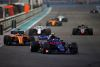 ABU DHABI, UNITED ARAB EMIRATES - NOVEMBER 25:  Pierre Gasly of France and Scuderia Toro Rosso driving the (10) Scuderia Toro Rosso STR13 Honda leads Fernando Alonso of Spain driving the (14) McLaren F1 Team MCL33 Renault on track during the Abu Dhabi Formula One Grand Prix at Yas Marina Circuit on November 25, 2018 in Abu Dhabi, United Arab Emirates.  (Photo by Peter Fox/Getty Images)