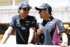 Lance Stroll, Racing Point, and Sergio Perez, Racing Point