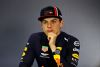 BARCELONA, SPAIN - MAY 12: Max Verstappen of Netherlands and Red Bull Racing talks in the post race press conference after the F1 Grand Prix of Spain at Circuit de Barcelona-Catalunya on May 12, 2019 in Barcelona, Spain. (Photo by Mark Thompson/Getty Images)