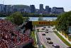 MONTREAL, QUEBEC - JUNE 09: A general view of the start showing Max Verstappen of the Netherlands driving the (33) Aston Martin Red Bull Racing RB15 and Daniil Kvyat driving the (26) Scuderia Toro Rosso STR14 Honda during the F1 Grand Prix of Canada at Circuit Gilles Villeneuve on June 09, 2019 in Montreal, Canada. (Photo by Dan Istitene/Getty Images)