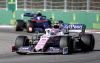 Lance Stroll, Racing Point RP19 and Pierre Gasly, Toro Rosso STR14