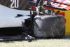 MUGELLO CIRCUIT, ITALY - SEPTEMBER 13: The damaged car of Kevin Magnussen, Haas VF-20 during the Tuscany GP at Mugello Circuit on Sunday September 13, 2020, Italy. (Photo by Glenn Dunbar / LAT Images)