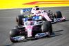 Lance Stroll, Racing Point RP20, leads Sergio Perez, Racing Point RP20